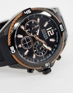 Ceas cronograf marca Guess, negru, de la Fashion Days la prețul 319 lei, preț vechi 999 lei.
